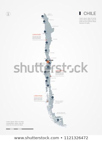 Gomb szimbólum térkép Chile zászló fehér Stock fotó © mayboro1964