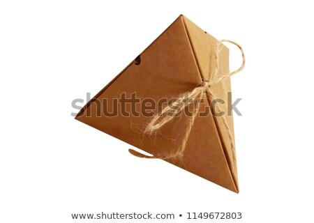 brown folding box isolated on white Stock photo © ozaiachin
