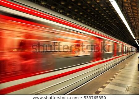 Metró vonat mozgás ezüst ingázó kosár Stock fotó © phakimata