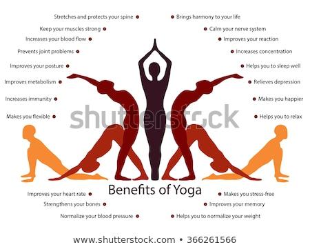 Voordelen yoga illustratie meisje sport silhouet Stockfoto © adrenalina