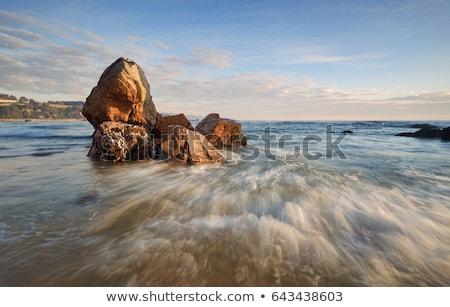 Kompleks skał niezwykły słojowanie kolory tekstury Zdjęcia stock © lovleah
