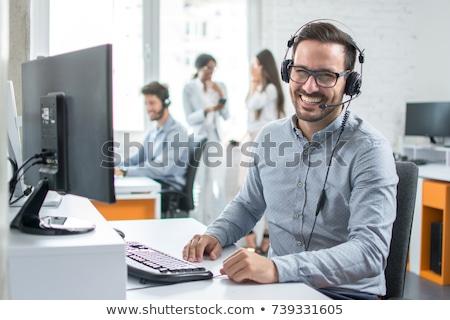 Call · Center · жить · помочь · дружественный · мужчины · женщины - Сток-фото © vectorikart
