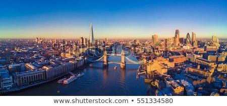 Tower Biridge with river Thames and London skyline Stock photo © Joningall