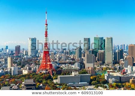 Tokió torony városkép légifelvétel Japán város Stock fotó © vichie81