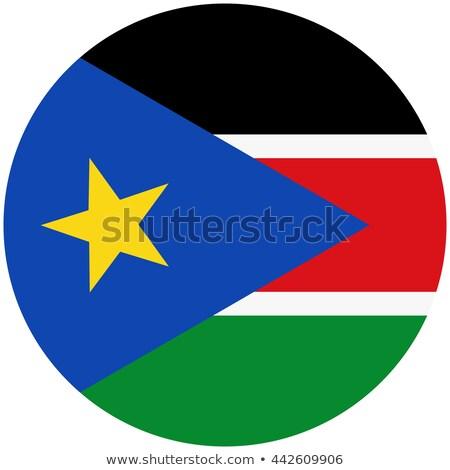 Ikona banderą południe Sudan metal ramki Zdjęcia stock © MikhailMishchenko
