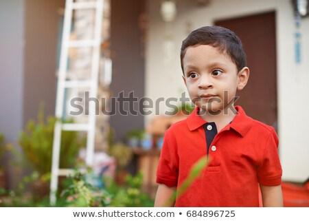 Komoly fiatal srác park oldalnézet arc gyermek Stock fotó © wavebreak_media