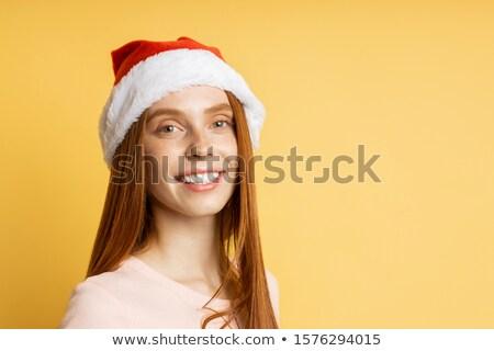 portre · güzel · kız · şapka - stok fotoğraf © wavebreak_media