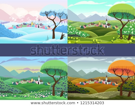 countryside in the spring and summer stock photo © tracer