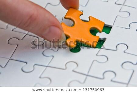 Habilidades quebra-cabeça lugar desaparecido peças texto Foto stock © tashatuvango