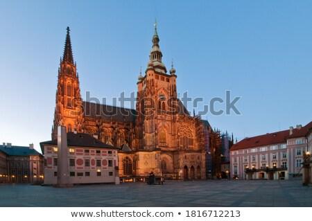 Side Entrance to Prague Saint Vitus Cathedral Stock photo © stevanovicigor