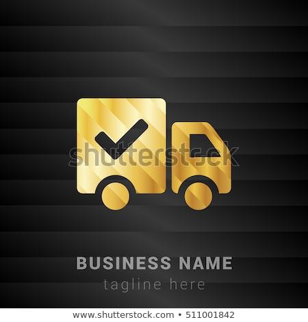 ücretsiz gönderim altın vektör ikon dizayn teknoloji Stok fotoğraf © rizwanali3d
