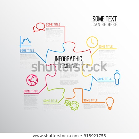 vector puzzle infographic report template stock photo © orson