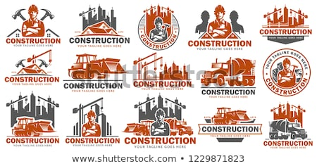 Logo for the construction industry  Stock photo © shawlinmohd
