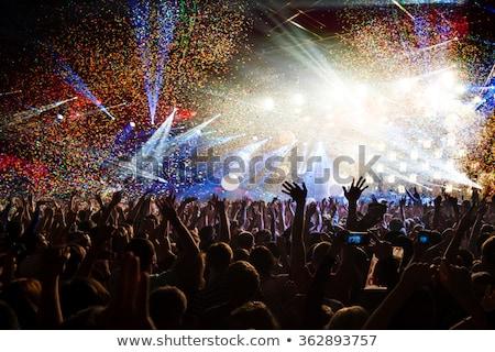 ünnepi fények emberek kezek éjszaka zene Stock fotó © tetkoren
