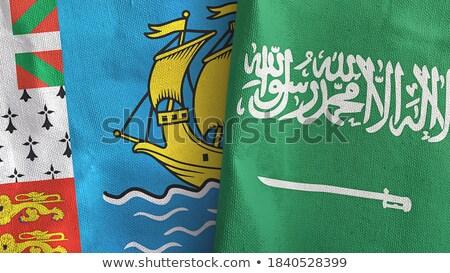 Arabia Saudita banderas rompecabezas aislado blanco Foto stock © Istanbul2009