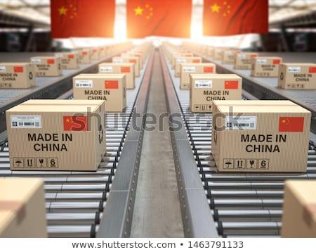 China país bandera mapa forma texto Foto stock © tony4urban