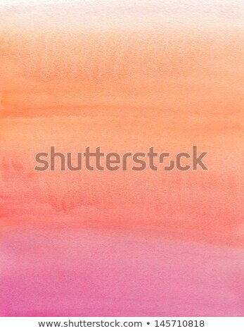 Watercolor painting. Orange and pink gradient  Stock photo © amok