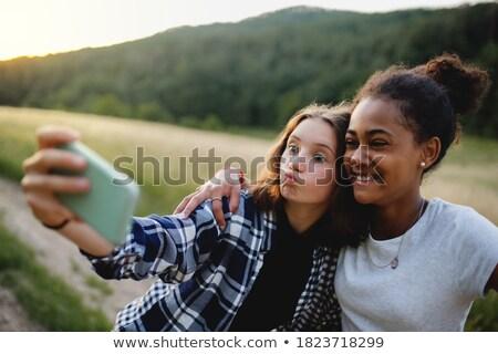 Stock fotó: Nő · tinédzser · fű · lány · nők · természet
