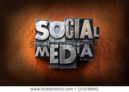 csipogás · szó · magasnyomás · közösségi · média · izolált - stock fotó © enterlinedesign
