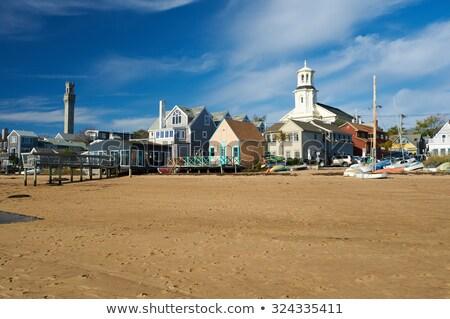 Cape cod tour Massachusetts USA bâtiment bleu Photo stock © lunamarina