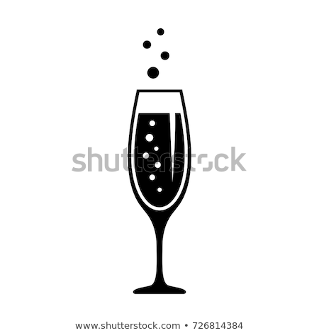 Goblet glass with champaign  on white  Stock photo © fanfo