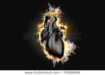 燃えるような · 中心 · 燃焼 · 火災 · 抽象的な · 背景 - ストックフォト © kirill_m