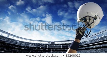 americano · futbolista · pelota · blanco · deporte - foto stock © wavebreak_media