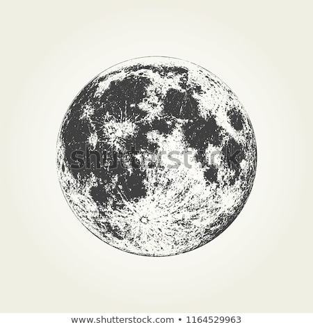 vector realistic planet Moon illustration Stock photo © TRIKONA