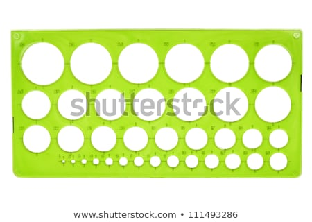 plastic · stencil · groene · geïsoleerd · witte · school - stockfoto © taigi