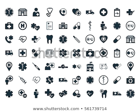 Hospital icons on white background Stock photo © tkacchuk