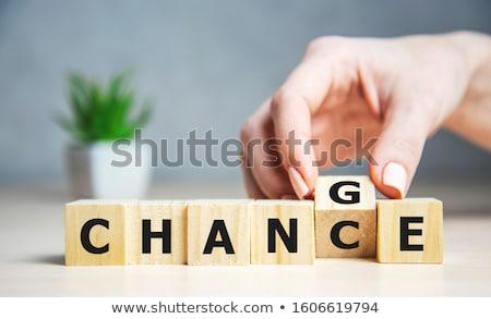 изменений шанс стороны слово красный маркер Сток-фото © ivelin