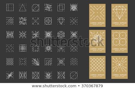 abstrato · triângulo · ponto · redemoinho · padrão - foto stock © vector1st