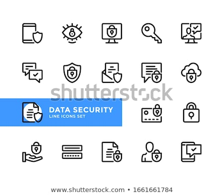 personal security icon flat design stock photo © wad