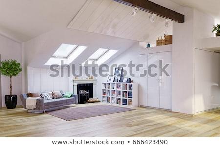 eski · çatı · çatı · katı · pencereler · Bina - stok fotoğraf © filipw