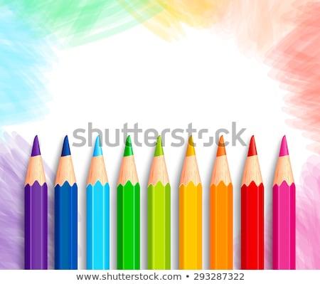 Back to school colored pencils background, vector illustration Stock photo © carodi