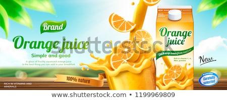 sinaasappelsap · glas · geïsoleerd · witte · zomer · vloeibare - stockfoto © orensila