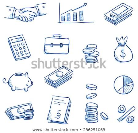 Firka számológép ikon infografika szimbólum kör Stock fotó © pakete