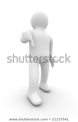 person a lowering finger downwards. Isolated 3D image. Stock photo © ISerg