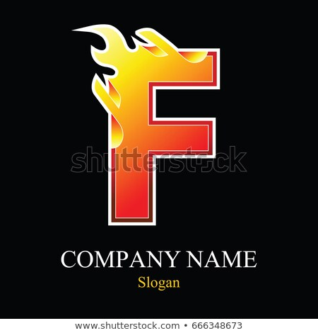 A letter F for fire Stock photo © bluering