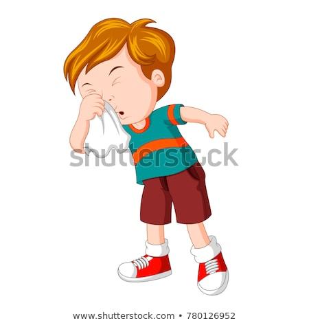 Kicsi fiú orvosi gyermek diák háttér Stock fotó © bluering