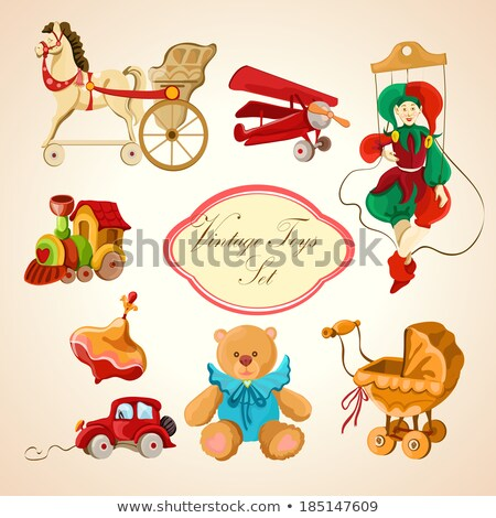 Set of puppets and toys Stock photo © bluering