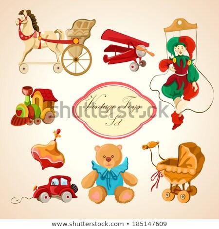 Conjunto brinquedos ilustração futebol fundo arte Foto stock © bluering