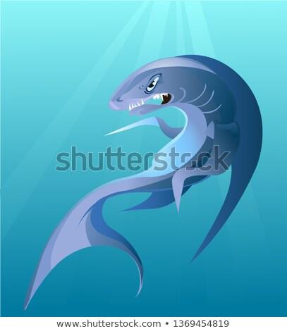 ビッグ サメ 自然 光 動物 漫画 ストックフォト © blackmoon979