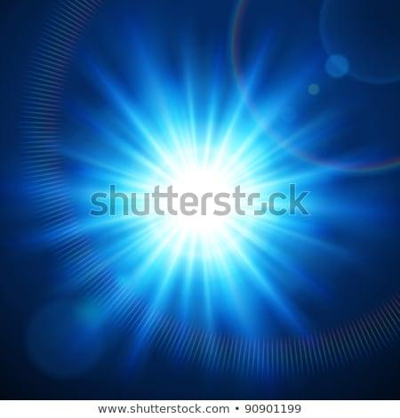 Blue flash light effect. EPS 10 Stock photo © beholdereye
