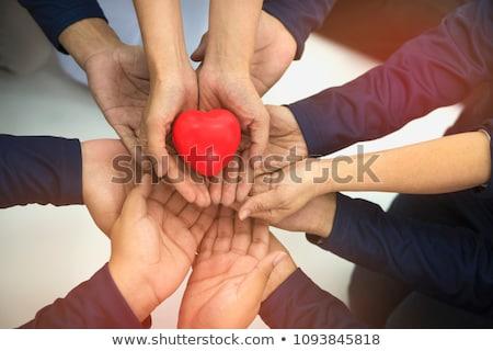 jótékonyság · adomány · vékony · vonal · vektor · ikon - stock fotó © smoki