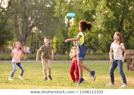 many kids in the park stock photo © bluering