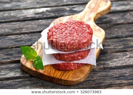 Stockfoto: Rundvlees · hamburger · twee · gegrild