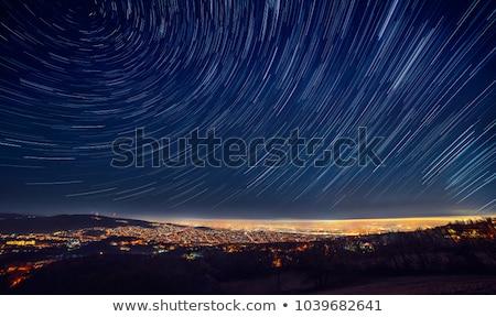 星 山 長時間暴露 星 暗い ストックフォト © pancaketom