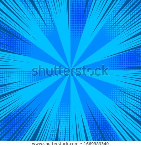 şık mavi rays yarım ton etki Stok fotoğraf © SArts