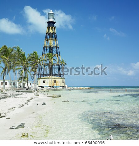 lighthouse on the cayo jutias beach cuba stock photo © capturelight